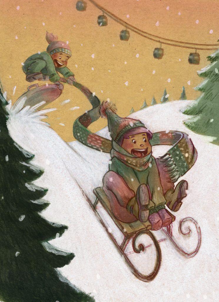 weihnachten_schlitten_kinderbuch_gruhl
